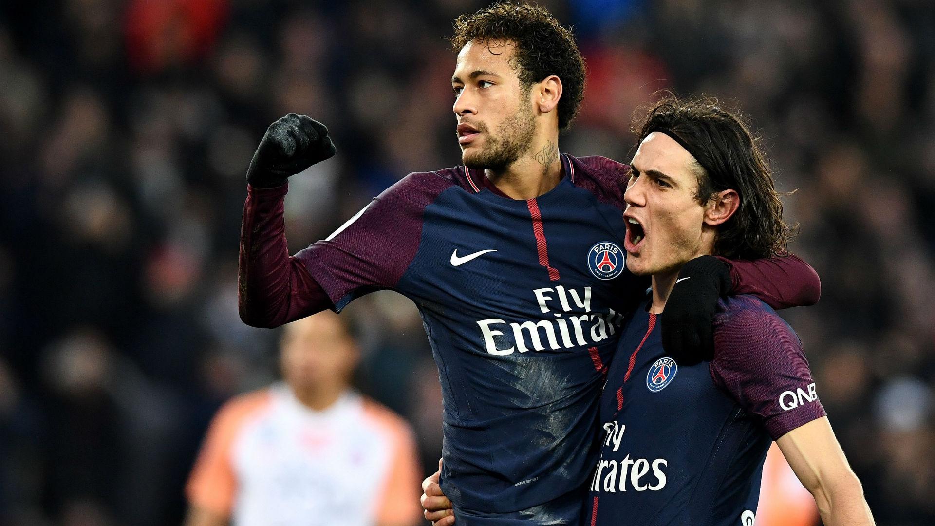 Edinson Cavani Neymar PSG Montpellier Ligue 1 27012018
