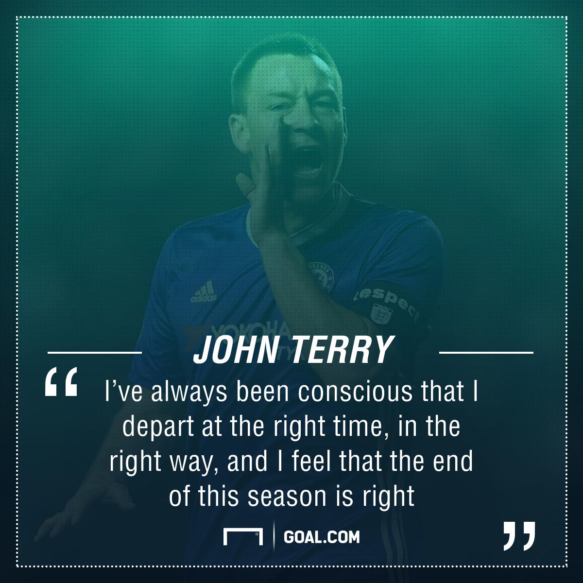 John Terry Chelsea leaving
