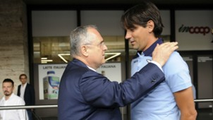 Claudio Lotito Simone Inzaghi Lazio Serie A 09102016