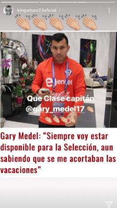 Gary Medel Arturo Vidal Instagram 2018