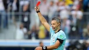 Suécia x Suíça - Cartão vermelho - Árbitro - 7/2018