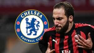 Gonzalo Higuain, Chelsea logo