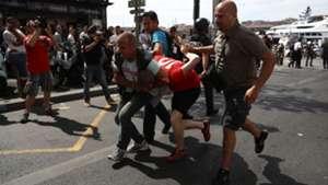 English Russia violence in Marseille