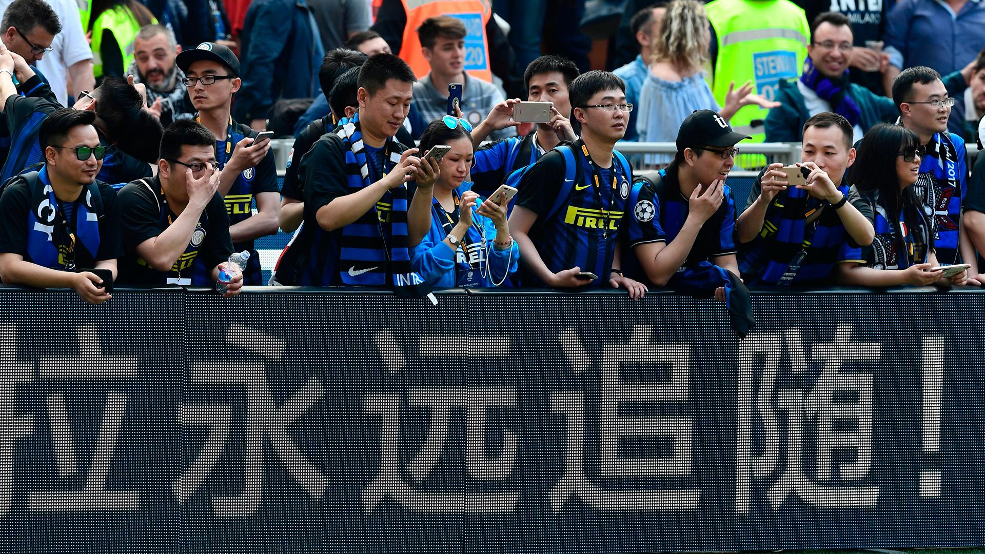 Fans Inter AC Milan derby