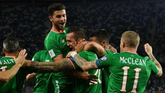 Republic of Ireland celebrate against Georgia