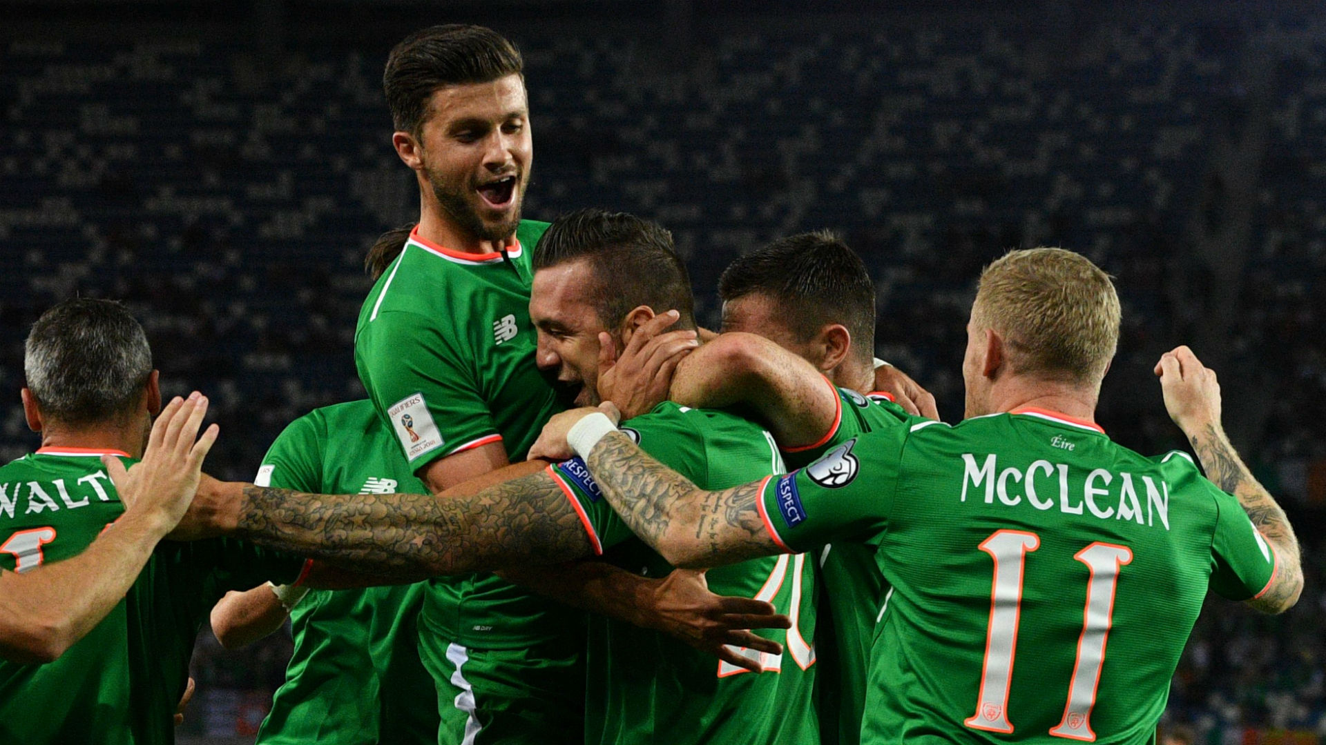 Republic of Ireland celebrate against Georgia