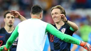 Danijel Subasic Luka Modric Croatia 2018