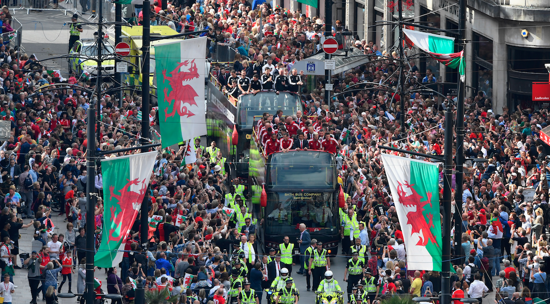 Cardiff Wales flags