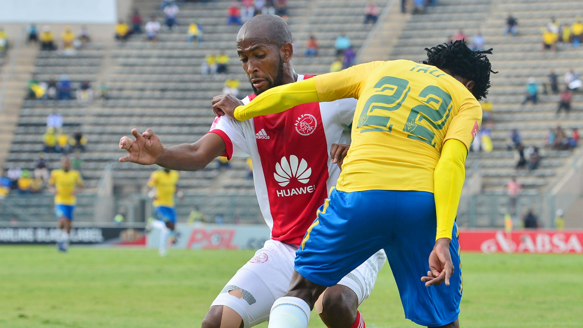 Mosa Lebusa, Ajax Cape Town & Percy Tau, Mamelodi Sundowns, April 2018