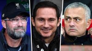 Jurgen Klopp Frank Lampard Jose Mourinho