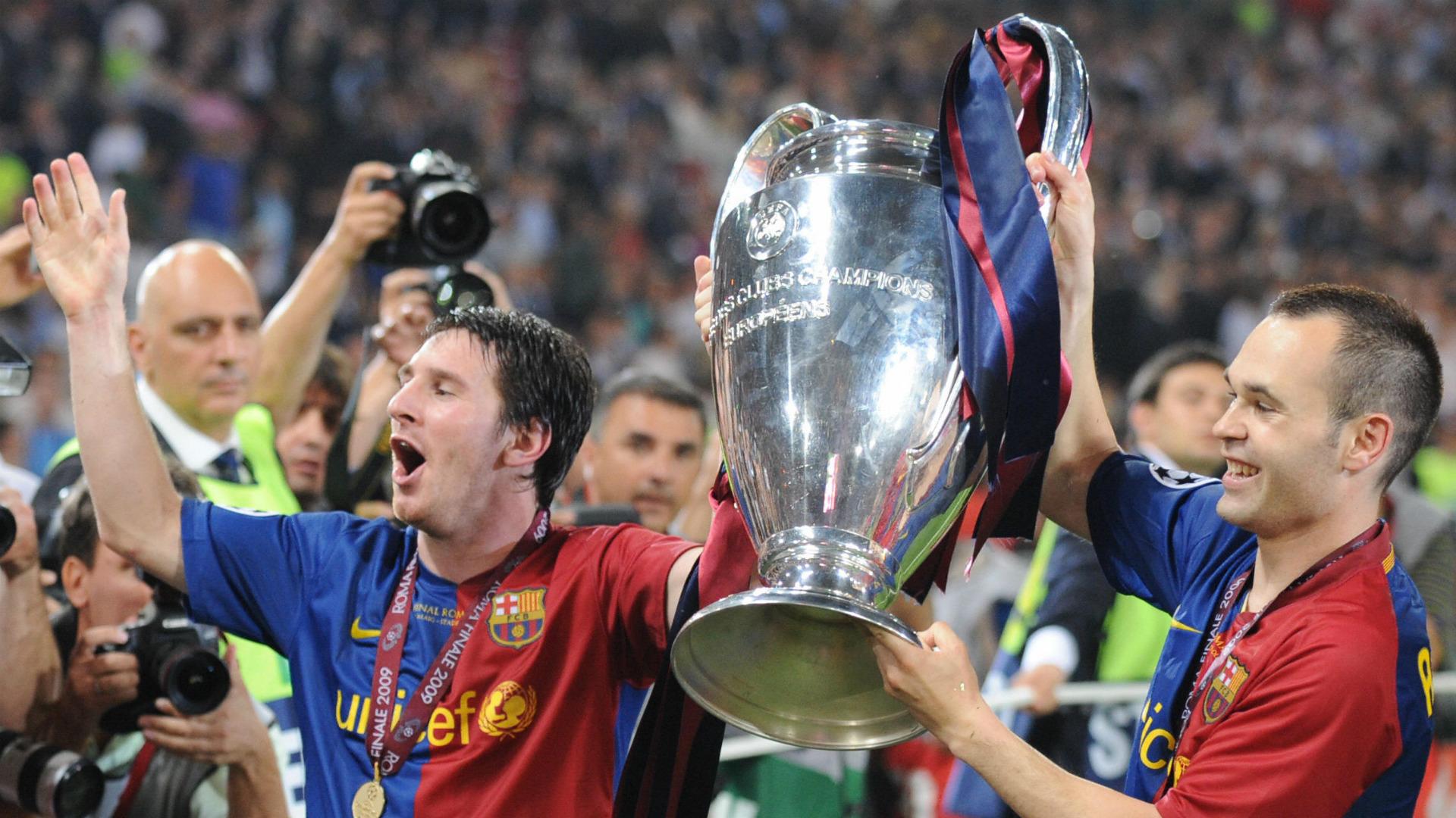 Lionel Messi Andres Iniesta 2009