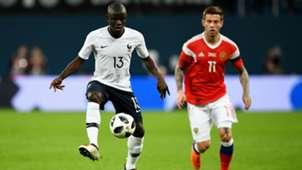 N'golo Kante Fyodor Smolov Russia France Friendly 27032018