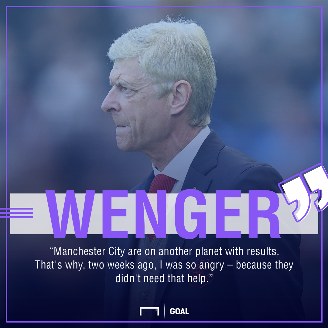 Wenger on Man City GFX