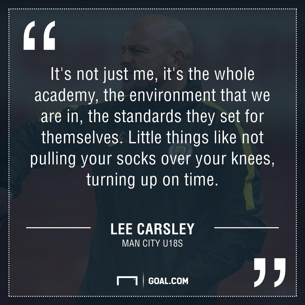 Lee Carsley quote GFX