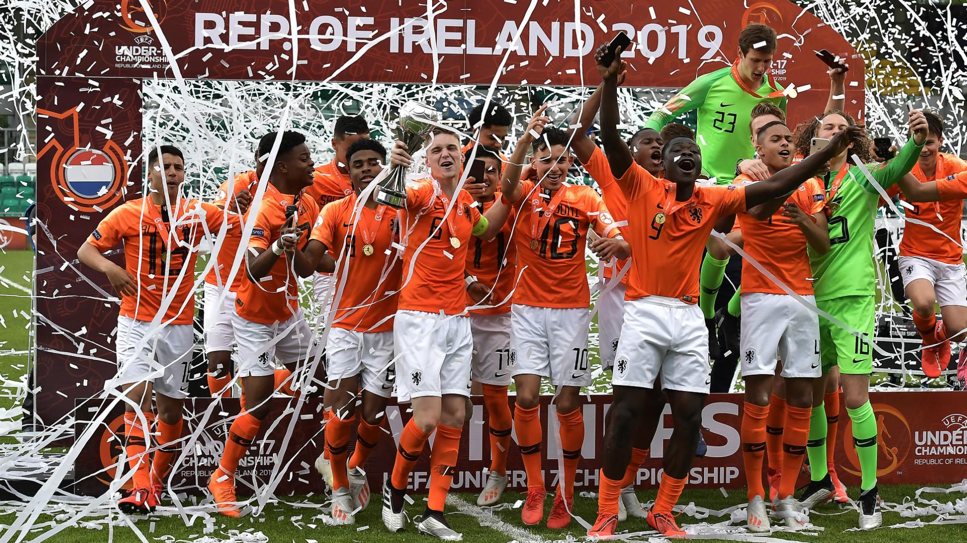ผลการค้นหารูปภาพสำหรับ เนเธอร์แลนด์คว่ำอิตาลี 4-2 คว้าแชมป์ยุโรปU17
