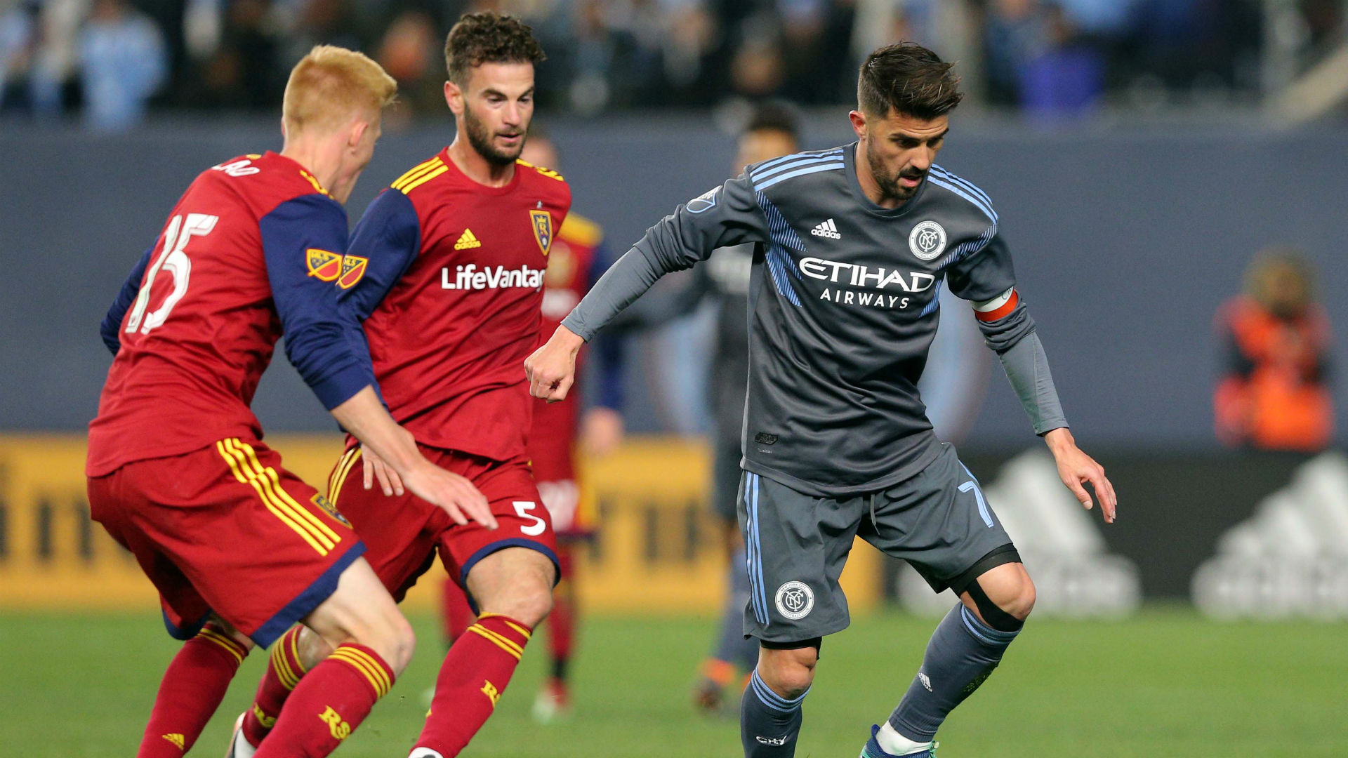 David Villa New York City FC Real Salt Lake MLS