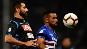 Fabio Quagliarella Raul Albiol Sampdoria Napoli Serie A