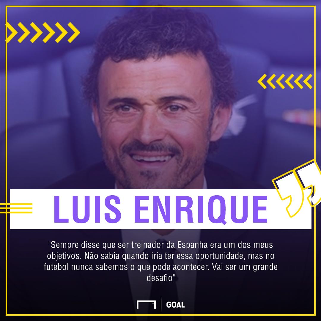 0fef6d7b92 Luis Enrique é apresentado como técnico da Espanha e diz