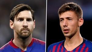 Lionel Messi Clement Lenglet Barcelona 2018
