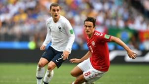 Antoine Griezmann Thomas Delaney Denmark France Cup 26062018.jpg