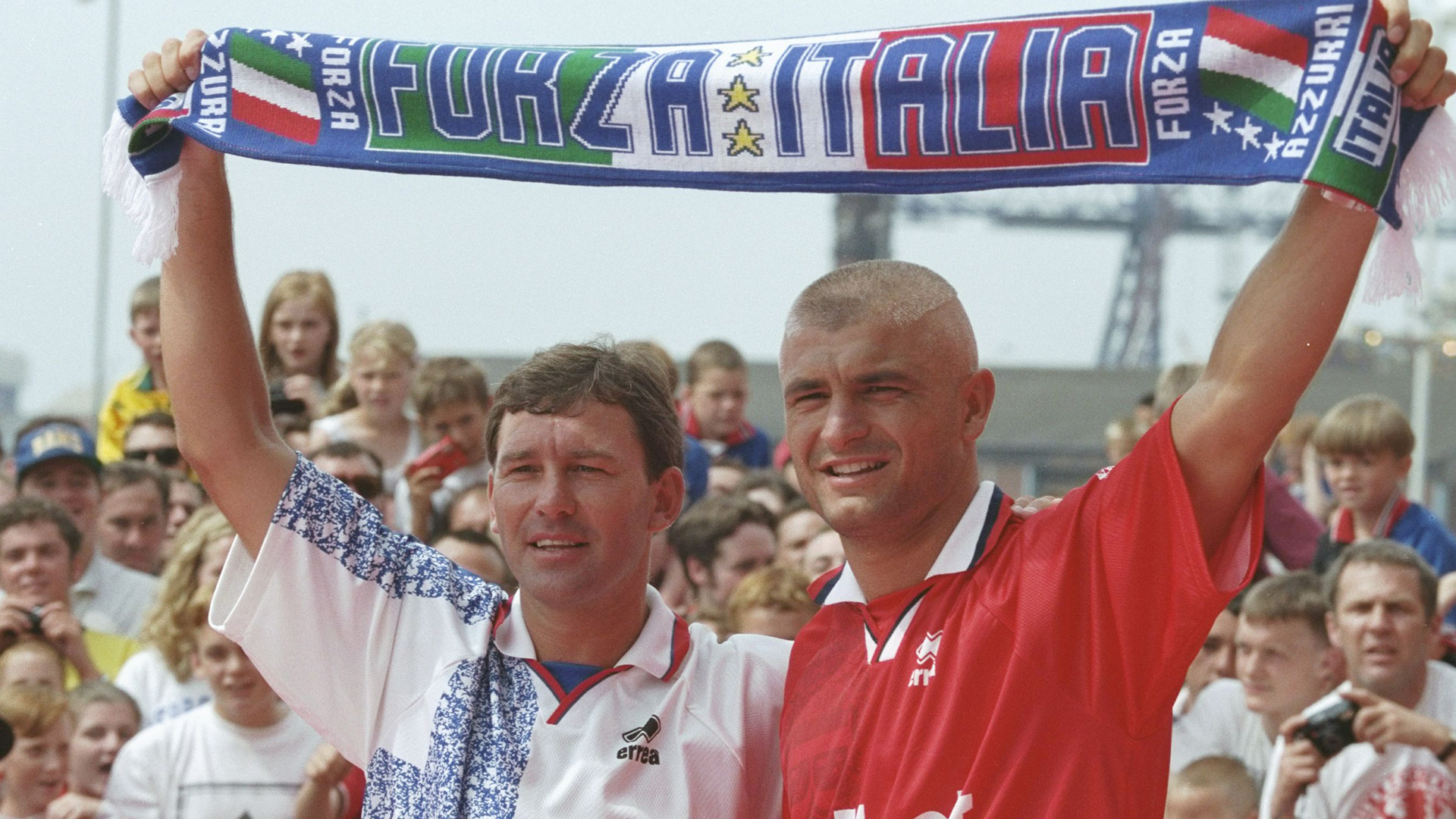 Bryan Robson Fabrizio Ravanelli Middlesbrough