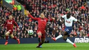 Van Dijk Sissoko Liverpool Tottenham Premier League 31/3/19