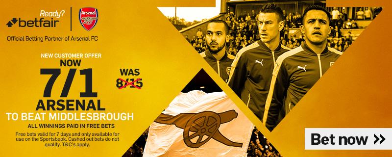 GFX Arsenal Middlesbrough enhanced betting