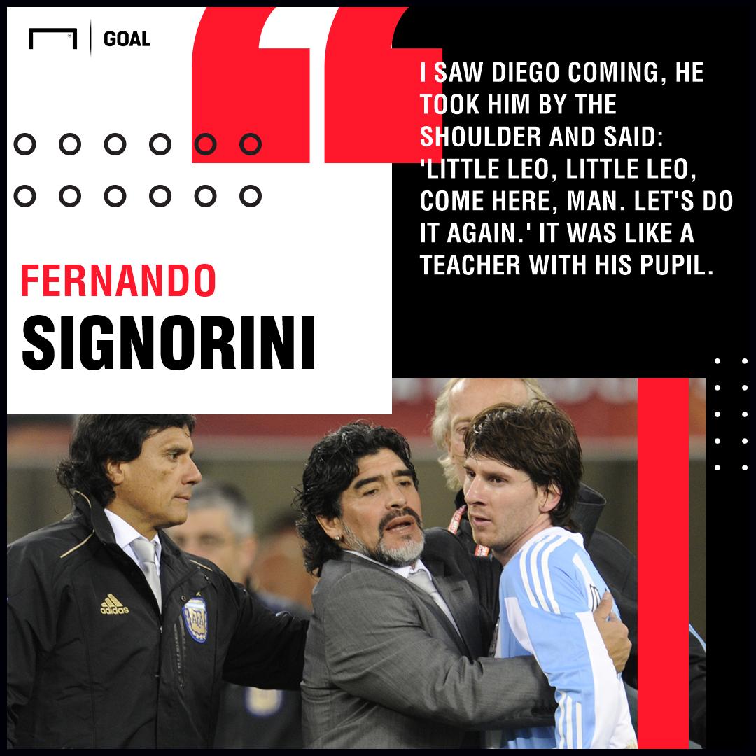 Lionel Messi Diego Maradona PS