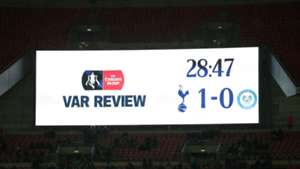 VAR Review Tottenham Rochdale FA Cup