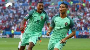 Nani Cristiano Ronaldo Portugal Ungarn 06222016