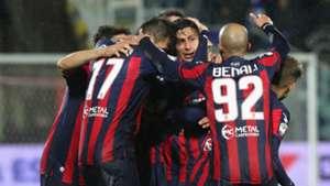 Crotone celebrating Serie A
