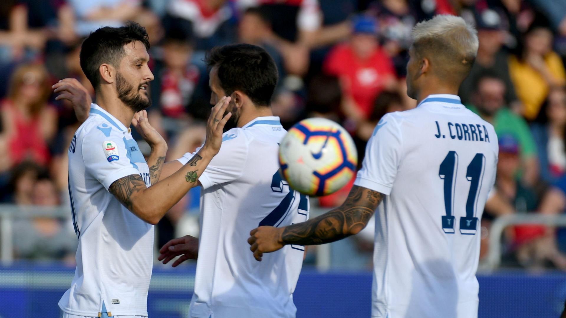 Lazio celebrating Cagliari Lazio Serie A