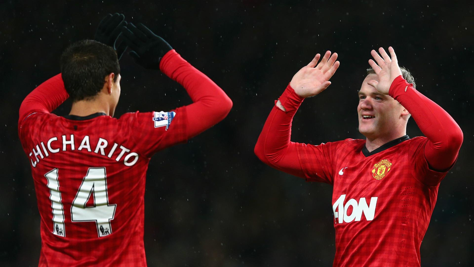Javier Hernandez Chicharito Wayne Rooney Manchester United 26012013