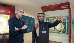 Arsene Wenger visits Lusail Stadium 2022 Qatar World Cup