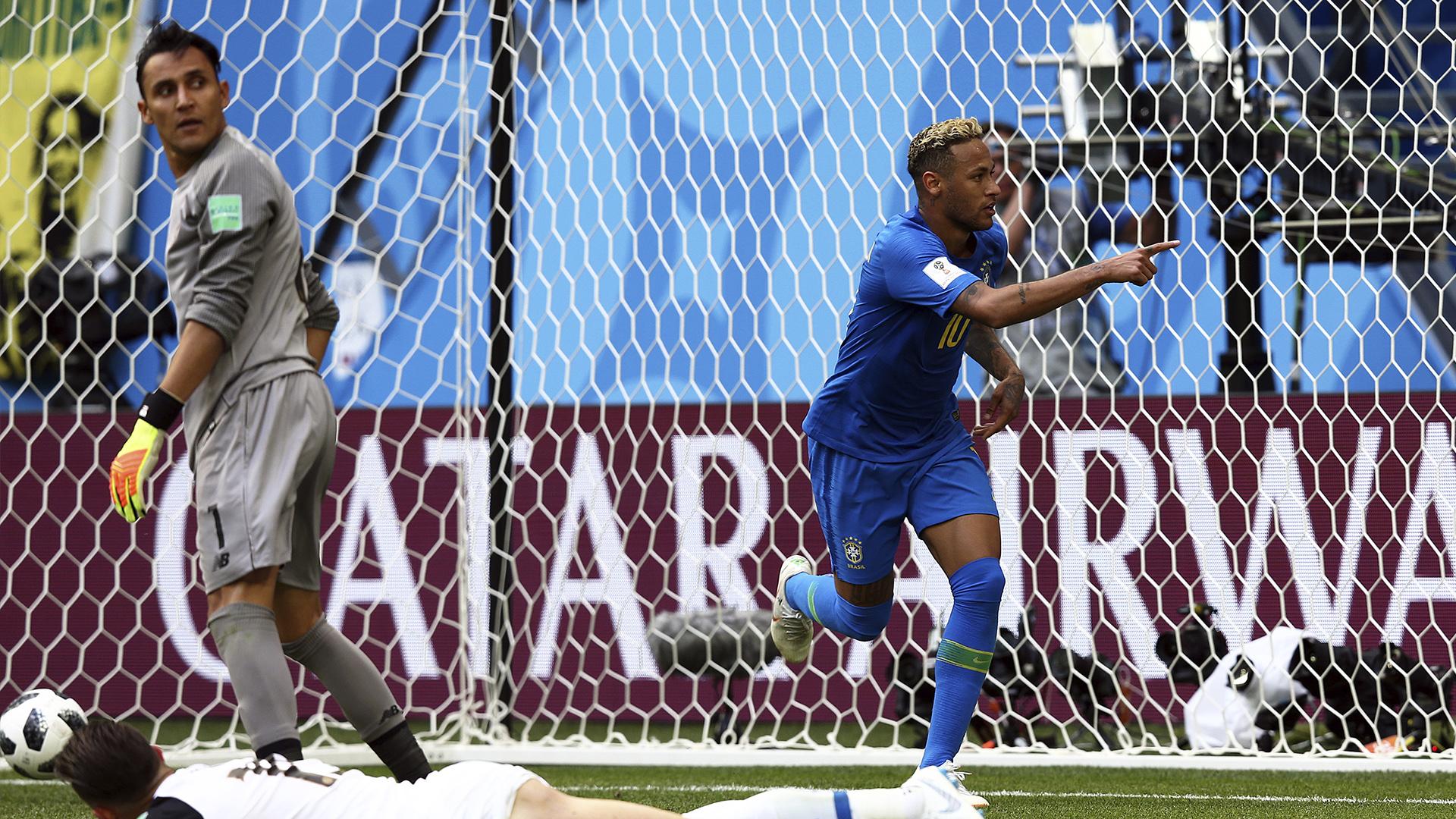 Navas e Neymar Brasil x Costa Rica Copa do Mundo 22 06 18
