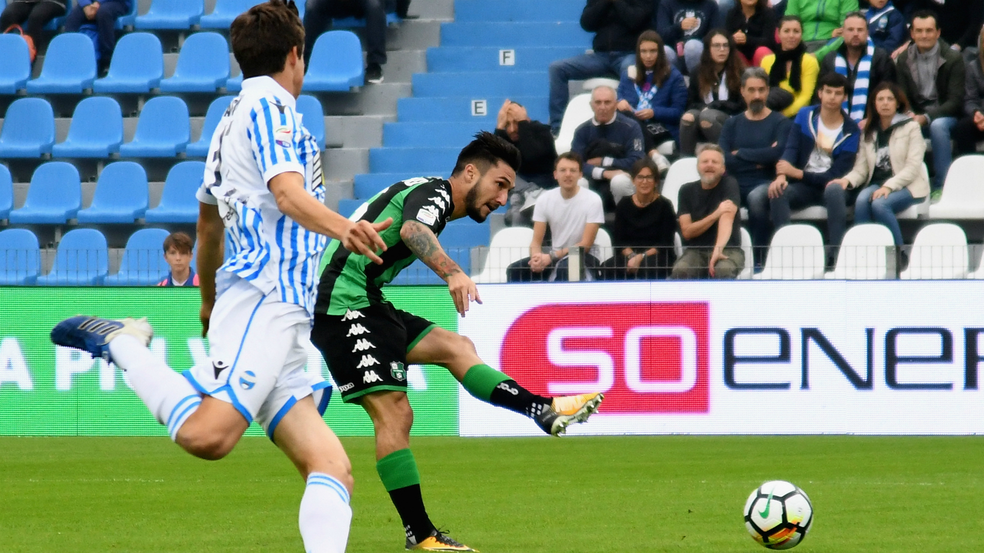 Sassuolo-Spal 1-1, ad Antenucci risponde Babacar su rigore