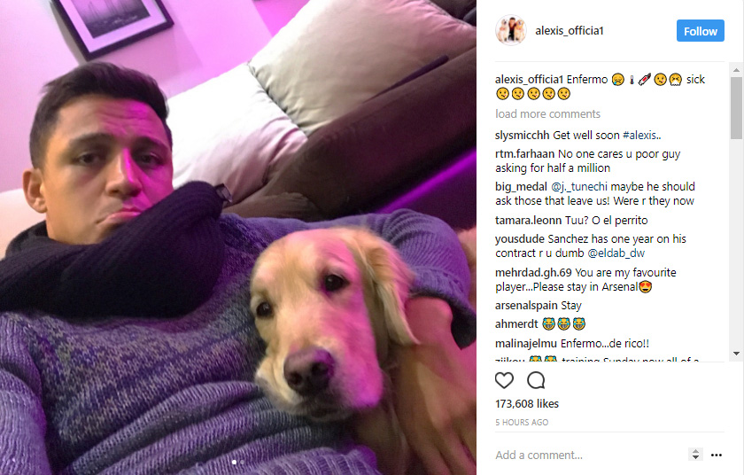 Alexis Sanchez Instagram 28072017