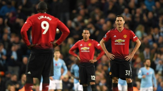Romelu Lukaku Nemanja Matic Manchester United City 111118