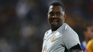 Itumeleng Khune, Kaizer Chiefs, stops a penalty against Maritzburg United