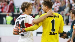GERMANY ONLY Borna Sosa Ron-Robert Zieler VfB Stuttgart