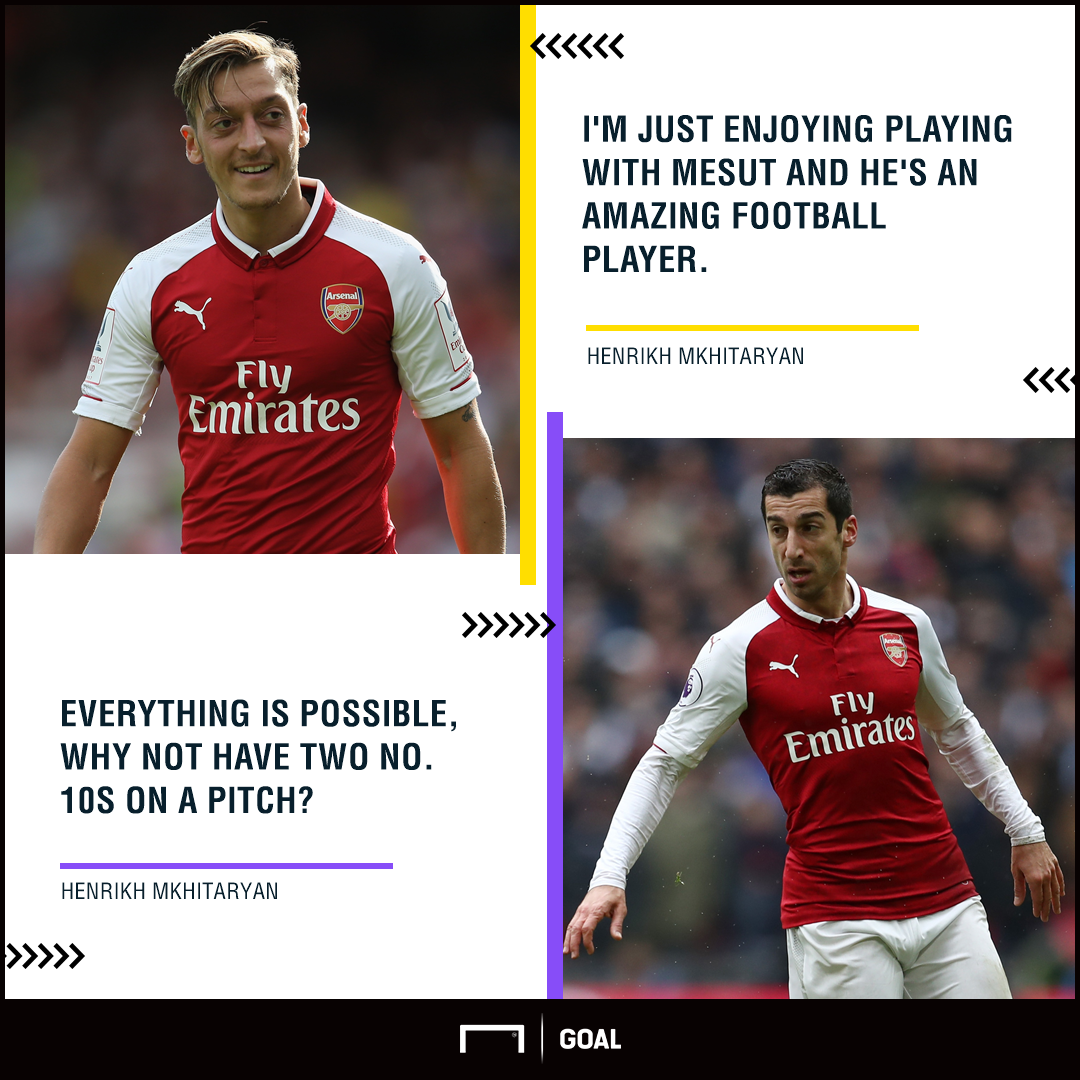 Henrikh Mkhitaryan can play with Mesut Ozil