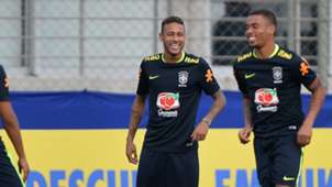 Neymar Gabriel Jesus Brasil treino 28082017