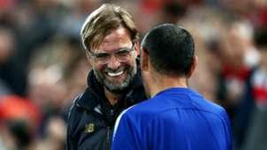 Jurgen Klopp Maurizio Sarri Liverpool Chelsea