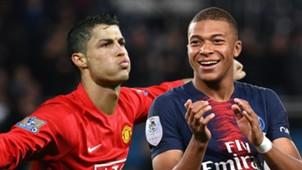 Cristiano Ronaldo Kylian Mbappe Man Utd PSG