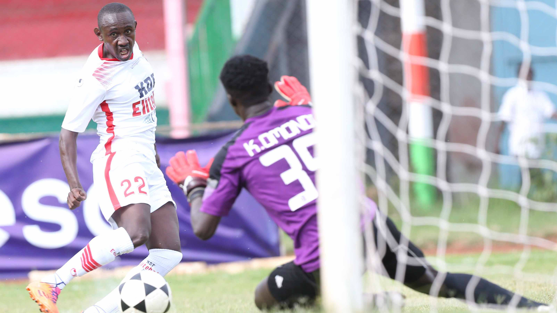Ulinzi Stars striker Stephen Waruru scores