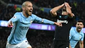 David Silva Manchester City West Ham