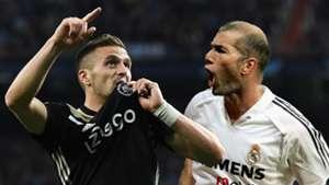 Dusan Tadic Zinedine Zidane Ajax Real Madrid