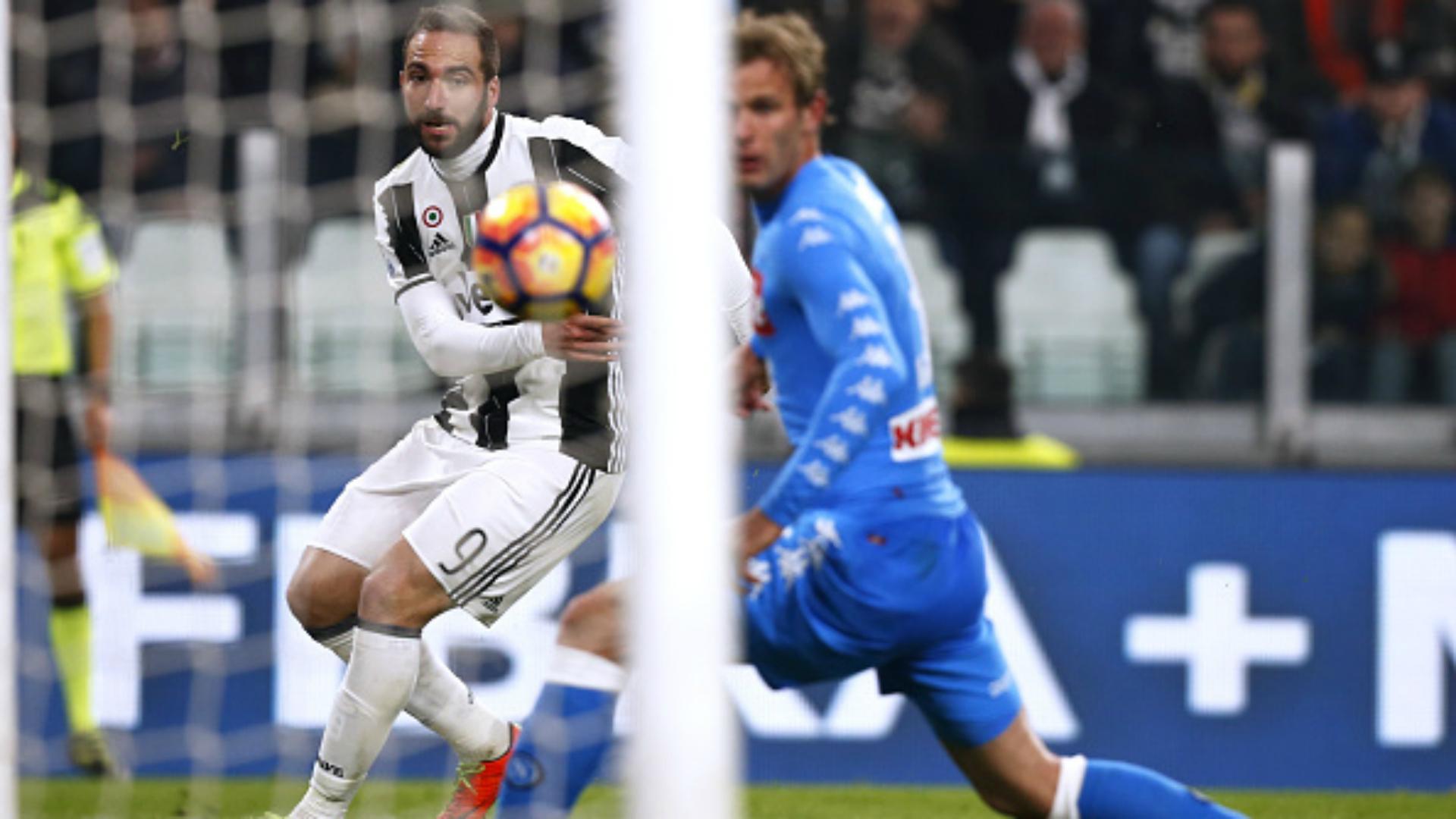 Gonzalo Higuain Ivan Strinic Juventus Napoli Coppa Italia