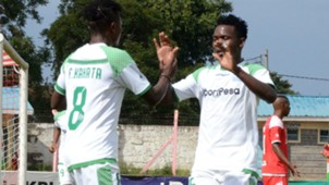 George Odhiambo of Gor Mahia and Francis Kahata.