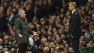 Jose Mourinho Manchester United Pep Guardiola Manchester City.